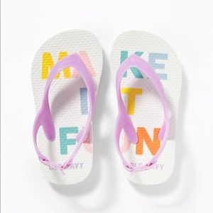 "NWT Old Navy ""Make It Fun"" Flip Flops Size 10"